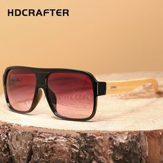 HDCRAFTER Mens Vintage Bamboo Sunglasses with UV400 Lenses  UV400   bambooshades  outdoorfashion  hiking 3885a590bd