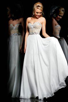 A-Linie Herzform Bodenlänge Elegante Abendkleidung Chiffon