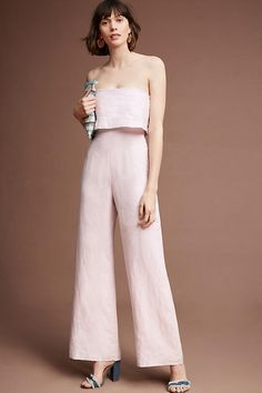 I'm gonna need this Anthropologie Popover Linen Jumpsuit How To Wear Shirt, Overall, Look At You, Fashion Outfits, Womens Fashion, Fashion Tips, Jumpsuits For Women, Korean Fashion, Marie