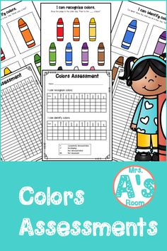 Everything you need to assess your kiddos' ability to recognize and identify colors is in this simple and easy-to-prep assessment kit! And the price is right, too! Preschool Color Activities, Preschool Ideas, Christian School, Data Sheets, Teacher Tools, Learning Colors, Preschool Kindergarten, Pre School, Classroom Management