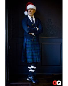 """the adventures of tartanscot™: """"National Tartan Day - 2012 . National Tartan Day, Nick Wooster, Tartan Kilt, Plaid, Striped Socks, Blue Cardigan, Blue Ties, Well Dressed Men, Suit And Tie"""