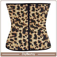 Klassische Latex Shaper Best Body Shaper für Frauen Taille Cincher Korsett Leopard Muster