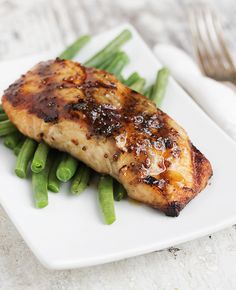 Maple Mustard Grilled Salmon - quick and easy glaze with only a few ingredients but tons of flavor!