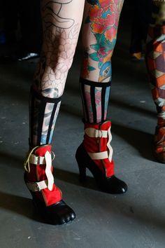 Backstage at Vivienne Westwood #SS16 Red Label