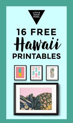 Free Travel Art: Hawaii • Little Gold Pixel