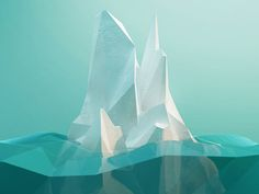 Dribbble - Low-Poly Iceberg by Runar Finanger. Proces video in comments. Ice Aesthetic, Polygon Art, Modelos 3d, Low Poly 3d, Fantasy Landscape, Illustrations, Cinema 4d, Design Reference, Animation