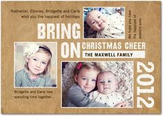 Christmas Cards Bring On Christmas - Front : White