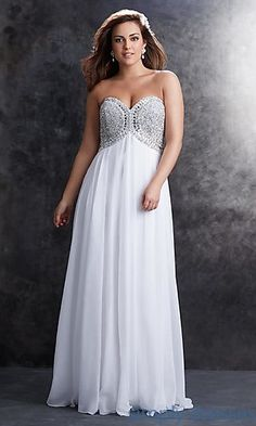 Strapless Sweetheart Floor Length Dress by Madison James at SimplyDresses.com