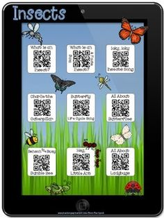 Insect Stories~QR Codes/Hyperlinks~Scan/CLICK for Listening. Center ideas with ipads