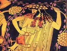 He was the god of fertility and wine, later considered a patron of the arts. He invented wine and spread the art of tending grapes. He has a dual nature. On the one hand bringing joy and devine ecstasy. On the other brutal, unthinking, rage. The festivel for Dionysus is in the spring when the leaves begin to reapper on the vine.  It's focus became the theater. Most of the great greek plays were initially written to be performed at the feast of Dionysus.