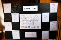 Another great London Underground style seating plan!