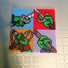 TMNT coasters perler beads by skoogsparlan