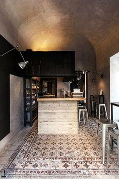 Unto Fast Food Restaurant by Studio DiDeA, Palermo – Italy Design Bar Restaurant, Rustic Restaurant, Restaurant Concept, Industrial Restaurant, Pub Design, Coffee Design, Retail Design, Commercial Interior Design, Commercial Interiors