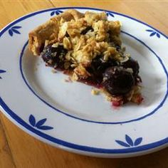 Cherry Pie with Almond Crumb Topping. Tested and approved!!