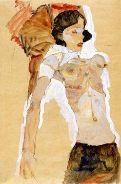 nataliakoptseva:  1911 Schiele Egon - Demi-nu - Albertina - Vienne