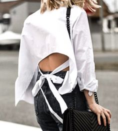 White Long Sleeve Bow Tie Back Asymmetrical Blouse at All Of My Essence Store | Lookave - #blouse #white #whiteblouse #shirt #whiteshirt #sleeve #longsleeve #asymmetrical #asymmetricalblouse #ootd #onlineshopping #lookave #onlineshopping #streetstyle #style #fashion #outfit