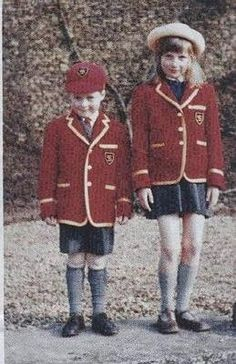 Lady Diana Spencer and brother Charles