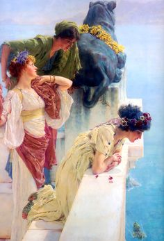 """ ALMA-TADEMA, Lawrence (1836–1912) A coign of vantage (inv.) 1895 Oil on canvas Ed. Orig. Lic. Ed. """