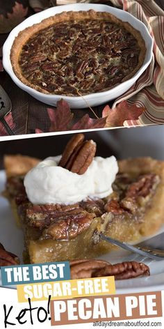 This is going to blow your mind! The best keto pecan pie recipe, with a delicious grain-free pastry crust and a gooey sugar free filling. Rich and delicious, and just as good as you remember, without all the guilt! #ketodessert #ketoholiday #lowcarbrecipes #pecanpie #sugarfreedessert #thanksgiving
