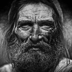 homeless black and white portraits