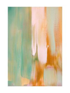 Green and Orange Rusty Patina Art by Artsy Canvas Girl