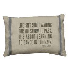 Rustic Dance In Rain Accent Throw Pillow