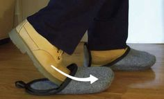 Quick and Easy to Use - Just slide your boot, shoe, or sneaker into the slipper