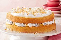 Layered Coconut Tres Leches Cake recipe - This impressive dessert is as moist as. - Layered Coconut Tres Leches Cake recipe – This impressive dessert is as moist as you'd expect a - Kraft Foods, Kraft Recipes, Authentic Mexican Recipes, Coconut Recipes, Baking Recipes, Cake Recipes, Coconut Tres Leches Cake Recipe, Just Desserts, Delicious Desserts