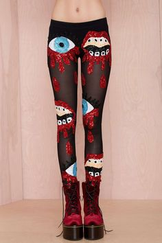 DI$COUNT TRA$H Bleeding Sequin Leggings | Shop What's New at Nasty Gal