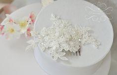Kammgesteck 3D Spitze Braut Haarschmuck von Princess Mimi  auf DaWanda.com
