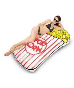 Look what I found on #zulily! Giant Popcorn Pool Float by BigMouth Inc. #zulilyfinds