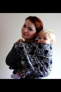 Lawilde Latreille Nokto, 250g/m2 100% cotton, babywearing woven wrap Woven Wrap, Babywearing, Little Ones, Monochrome, Wraps, Black And White, Cotton, Beautiful, Fashion