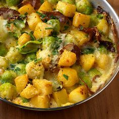Rosenkohl-Kartoffel-Gratin