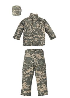 Kids ACU Digital Camouflage 3pc Soldier Military Uniform Costume Hunt U.S Army