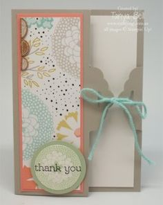 Stampin' Up! Scallop Tag Topper Punch Card Closure - Stamping T!