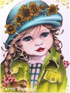 Victoria image from Sugar Nelly:  Skin: E0000, E000, E00, E21 Hair: E40, E42, E44, E47 Eyes: B34, B37 Lips: R14, R17, R24 Hat: BG32, BG34, BG70, BG72 Clothes: YG21, YG23, YG25, YG82