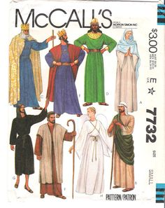 Time of christ clothing the attire worn during bible times mccalls 7732 uncut biblical costumes sewing pattern size small halloween costume christmas pageant solutioingenieria