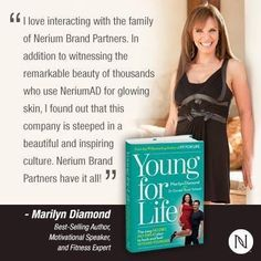 Another Clue: NeriumAD is the ONLY product Marilyn has EVER endorsed in 70 years!