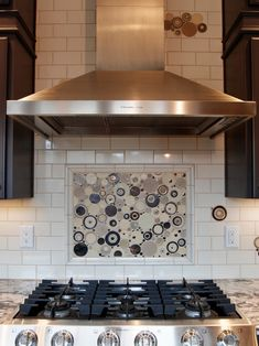 Get creative and have something like this!  Truly pops with the white subway tile.