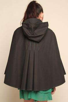 Hooded Rain Cape.  Like the back details