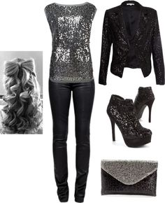 """christmas party outfit"" by kaitlynhansen on Polyvore"