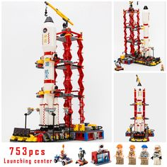33.09$  Watch here - Models building toy Center Rocket Space Blocks 753pcs Building Blocks Compatible with lego city toys & hobbies birthday gift  #buyonline
