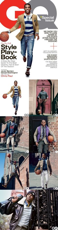 Chris Paul for the October American edition of GQ