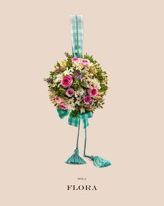 #bola de #flores naturales, ideal para comunión y arras  #2016 Una rica selección de flores como mini #rosas, #lavanda, espigas de trigo, #astrantia y verdes frescos.