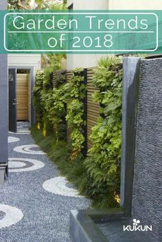 Natural finishes can give outdoor spaces an organic appeal, textural finishes will add depth and interest to your garden. Texture can be implemented through garden flooring by using raw materials, read our article for the latest garden trends! [Garden Trends, Garden Trends of 2018, Landscaping Trends, Wall Fountain, Pebble Walkway, Textured Garden Flooring, Modern Garden Ideas, Pebble Mosaic] #gardenfountains #wallgardens #organicgardeningideas
