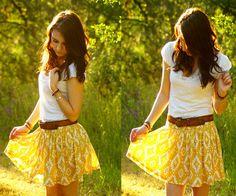 Cute yellow skirt