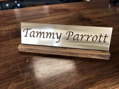 Office Accessories Decor Desk Name Plate For Her by GaroSigns
