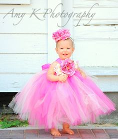 Sweet Sister Flower Girl Tutu Dress... This dress as well as all others from The Little Pea can be fully customized to match your wedding or special event!