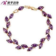 Xuping Luxury Bracelet Hot Sale Bracelet New Style Women Bracelet  Gold Color Plated Synthetic CZ Bracelet Fine Jewelry 73583