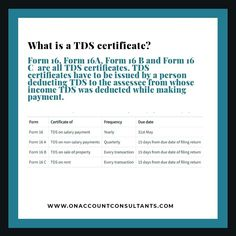 Learn more about TDS Certificate and it's due date. Tax Deducted At Source, Due Date, Tax Deductions, Certificate, Dating, Learning, Quotes, Studying, Teaching